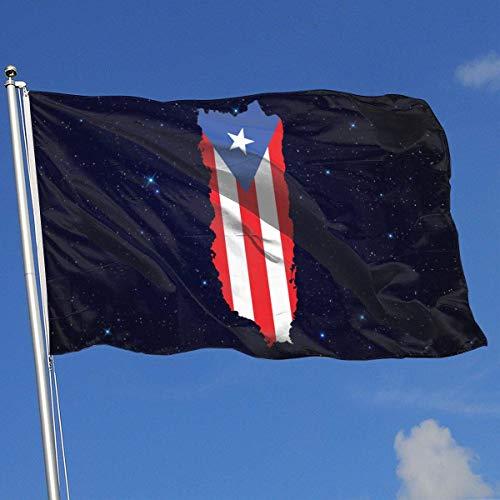 Xhayo Drapeaux Puerto Rico Flag Banner Flag Demonstration Flag Outdoor Garden Flag 3'X5' House Banner