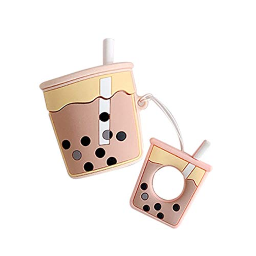 siwetg Mode Niedlich Perle Milch Tee Tasse Weichem Silikon Schutzhülle Stoßfest Hülle Für Airpods 1/2 Lade Box