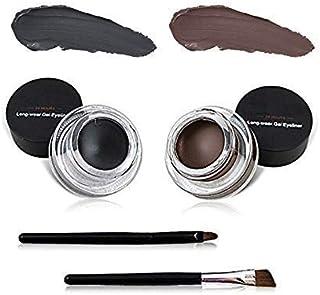 Miss rose Long Lasting 24h Gel Eyeliner - Black & Brown, Multi, 6 g