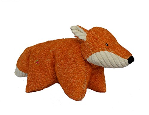 HuggleHounds Plush, Durable Knot-Less Squooshie Fox, Orange