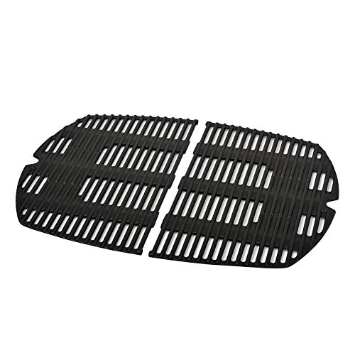 Stanbroil Cast Iron Cooking Grates for Weber Q300, Q320, Q3000, Q3100, Q3200 Series Gas Grill - Replacement Parts for Weber 7646