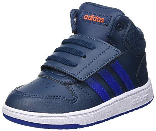 adidas Unisex Baby Hoops Mid 2.0 Sneaker, Crew Navy/Royal Blue/Cloud White, 20 EU