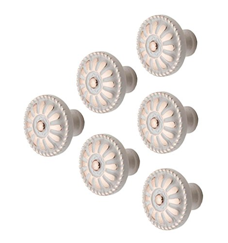 6/10 Pezzi Vintage Art lega di zinco di ceramica Pomello Armadio Manopole Maniglia della per armadio Dresser Libreria appendiabiti Bagno Cucina arredamento