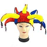 Gorro de bufón Medieval Payaso Jester Cap with Bells - Disfraz de Adulto Carnaval y Halloween -...