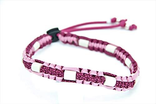 Zeckenschutzhalsband EM - Keramik Pink Lavender Fuchsia Diamonds - schön und nützlich!