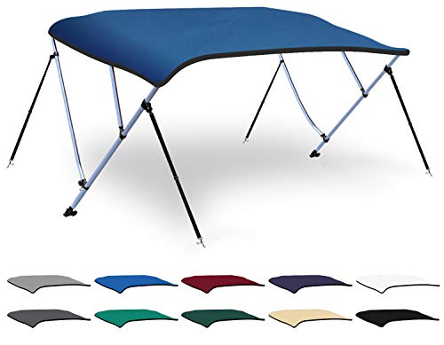 New XGEAR 3-4 Bow Bimini Top Boat Cover with 4 Straps, Mounting Hardwares and Storage Boot, Full Siz...
