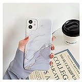 KEHUITONG PSWK Marble Crack Matte Teléfono Casos para iPhone 12 / Mini / 11 / Pro/MAX/SE/XS/MAX/XR/X / 7/8 / Plus Cubierta de la Caja Silicona Soft TPU (Color : I, Material : For iPhone XR)