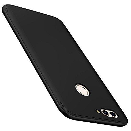 Qissy Cover Huawei P8 Lite 2017, 3 in 1 all-in-One Anti-Scratch Antiurto Anti-Impronte Morbida Protettiva di Copertura per Huawei P8 Lite 2017 5.2 '' (Huawei P8 Lite 2017, Nero)