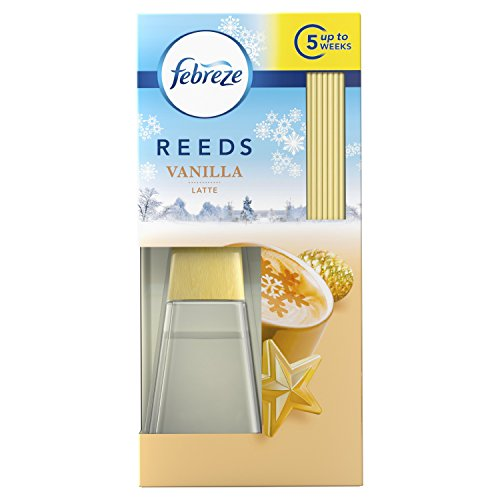 Febreze Reeds Scented Oil Diffuser with Vanilla Latte...