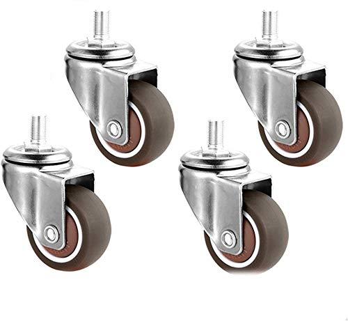 4 ruote girevoli per mobili senza ruote freno, ruota a vite di ricambio utilizzata nei carrelli mobili da 2 '-M10