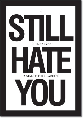 """8681Z 'Still Hate You' - Funny Anniversary Greeting Card with 5"""" x 7"""" Envelope by NobleWorks"""