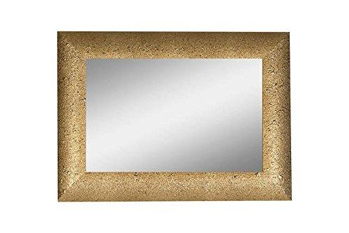 CVC- Specchio da parete, cornice dorata, dettaglio punti di vernice. Dimensione 50x70cm. Made in Italy