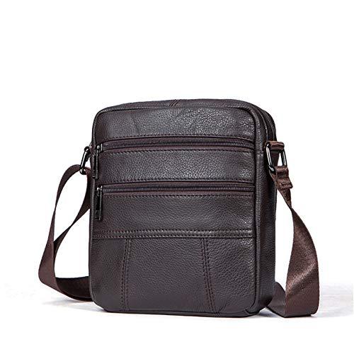 Bolso de hombro pequeño para hombre, de piel auténtica para hombre, bolso de mensajero clásico vertical, bolso de bandolera, bolso de negocios, bolso cruzado para trabajo