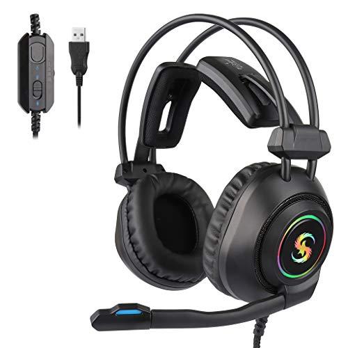 duquanxinquan Großes Headset Gaming Headset Stereo-Klang Gamer Kopfhörer Earphone Mit Microphone für Laptop Mac