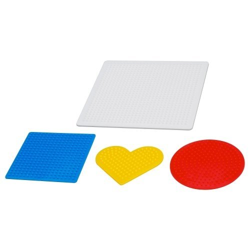 Ikea 701.285.71 PYSSLA Steckperlenplatte 4er-Set, versch. Farben, Nicht Angegeben