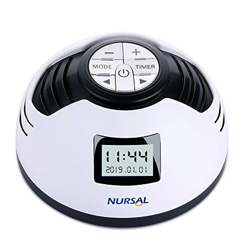 NURSAL White Noise Machine, Sleep Sound Machine Alarm Clock with 8 Soothing Sounds, Spa Relaxation Sound Sleep Therapy with Auto-off Timer for Baby Adult Office and Travel