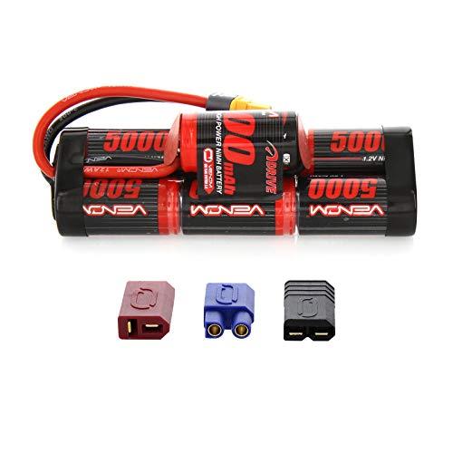 Venom 8.4V 5000mAh 7-Cell Hump Pack NiMH Battery with Universal Plug (EC3/Deans//Tamiya)