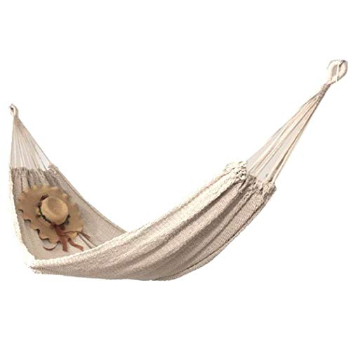 Double Hammock Swing Chair 2 Person Brazilian Cotton Quilted Hammock Bed for Porch Garden Backyard Bedroom Camping with Carry Bag
