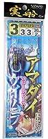 ささめ針(SASAME) FSM82 実船 アマダイ ケイムラ&フロートビーズ 3号