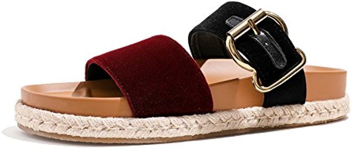YMFIE Sandales Confortables d'été de Mode des Femmes et Pantoufles Sandales antidérapantes d'orteil à Fond Plat