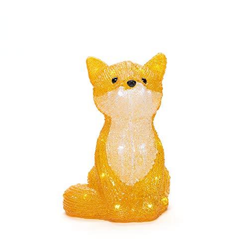 Konstsmide 6275-203 Acryl-Figur Fuchs Neutral-Weiß LED Orange, Weiß