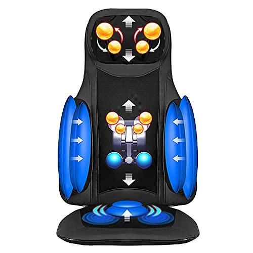 ZHANGTAOLF Shiatsu Neck & Back Massagegerät mit Wärme - Knete volles Rückenmassagegerät, Massage-Sessel-Pad für Schulterhals und Rücken, Ganzkörperschmerzlinderung
