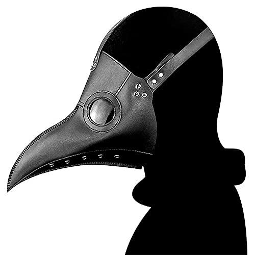 Maschera da medico della peste, maschera per Halloween, costume da cosplay, steampunk, gotico, retrò, maschera da uccello in pelle