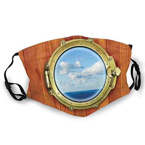 AISIJD Reutilizable y lavable, fondo de madera de ojo de buey para ventana de barco de vela vieja, para ciclismo, camping, viajes, talla única