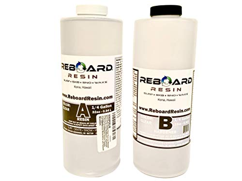 Epoxy Resin Crystal Clear Resin by Reboard Resin for All Your Skateboard, Snowboard, Surfboard & Wakeboard Upcycle Projects Revitalize Famous Memorabilia with Reboard Resin Epoxy