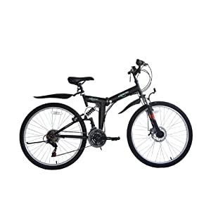 Mountain Bikes ECOSMO 26″ Folding Mountain Bicycle Bike 21SP SHIMANO-26SF02BL [tag]