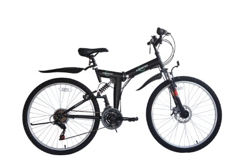 ECOSMO 26' Folding Mountain Bicycle Bike 21SP SHIMANO-26SF02BL