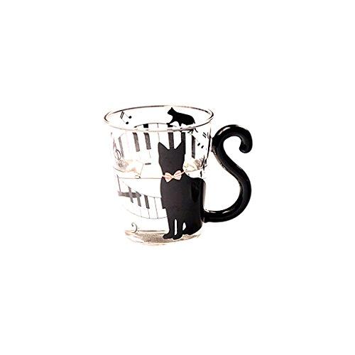 Vetro Gatto Gattino Tazza Di Tè Tazza Di Latte Tazza Di Caffè Creativo Simpatico Lattiere - #4