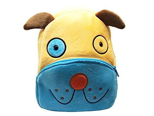 Ducomi Funny Zoo - Zaino Asilo Unisex in Peluche per Bambini da 1 a 7 anni - Ergonomico, Leggero e 3D Design - Idea Regalo per Bambini e Bambine - 24 x 10,5 x 26,5 cm (Dog)