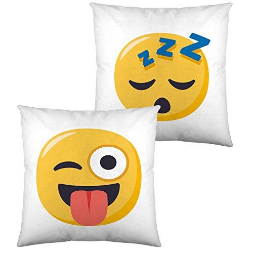 Emoji Funda de cojin Reversible 5 40x40 cm