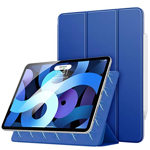 MoKo Funda Compatible con iPad Air 4ta Generación 2020 iPad 10.9 2020, [Admite Carga Inalámbrica Apple Pencil] Liviana del Soporte con Adsorción Magnética con Auto Sueño/Estela - Azul Marino