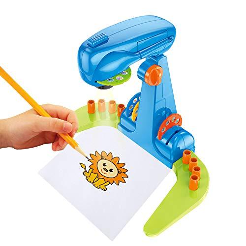Proyector de dibujo inteligente multifuncional para niños, juguete de proyección de arte de ciencia y rompecabezas, máquina de dibujo inteligente de educación temprana de iluminación