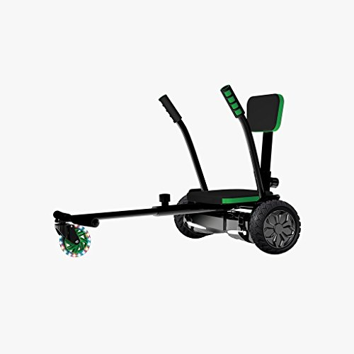 Jetson Electric Bike All Terrain 2-in-1 Combo V8 Sport Hoverboard with JetKart 1.0 Accessory - Bluetooth Speaker, LED Lights, and Go Kart Conversion - App Included - UL2272 Certified