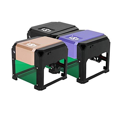 3000mW Laser Engraving Machine, Mini Desktop CNC Laser Engraver with Carver Size 80 x 80mm, High Speed Laser Engraving Cutter … (3W)