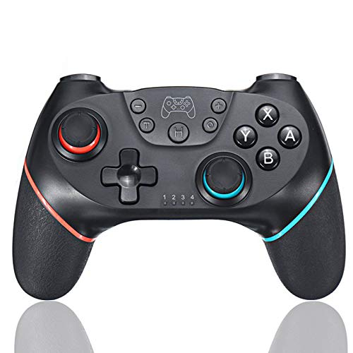 Switch Game Controller,Wireless Pro Controller for Switch/Switch Lite Remote Gamepad Joystick with Adjustable Turbo Vibration, Dual Shock,Ergonomic Non-Slip and Gyro Axis