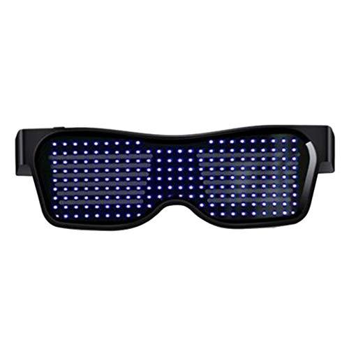 jfhrfged Standby BT APP LED leuchten Sonnenbrillen Shades Blink Blin-k Glow Brillen Party Rave (A)