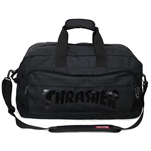 [THRASHER(スラッシャー)] ボストンバッグ ショルダーバッグ リュック 3WAY 60L 4~5泊 THR-120 ブラック/...