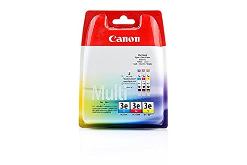 Original Canon 4480A262 / BCI-3E, für BJC 6000 3X Premium Drucker-Patrone, Cyan, Magenta, Gelb, 500 Seiten, 14 ml