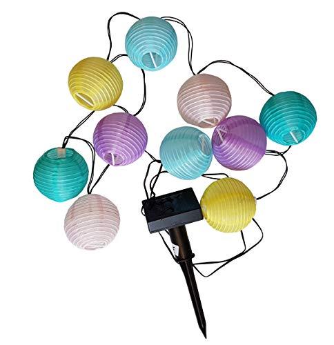 Provance Solar Lampionkette: Solar-LED-Lichterkette, mit 10 bunten Lampions, 2,4 m, IP44 (Solar Lampionkette außen)