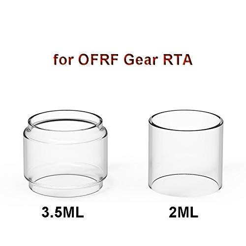 RUIYITECH 3 STKS Vervangende Lamp Bubble Rechte Expansie Glas Tank Buis voor OFRF Gear RTA Normaal glas/Fatboy Glas