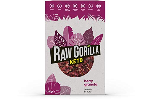 Raw Gorilla Granola keto con frambuesa 250 g