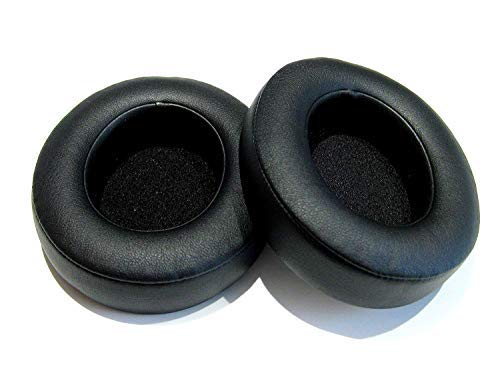 Replacement Earpads Ear Pad Cushion Cover Fit for Monster Beats by Dr.Dre Studio 2.0 Studio 3.0 Wired Wireless Headphones (Black)