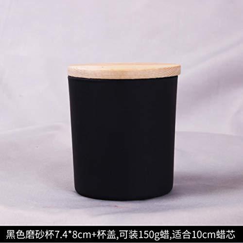 50st / pakket DIY handleiding kaars drank container/glas kaarsen aromatherapie kaarsen kaars cup glazen aan de groothandel,50st 7.4x8cm