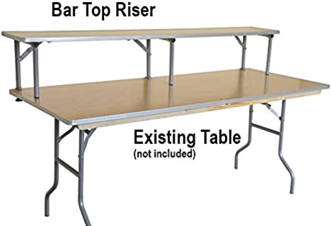 6 Foot Rectangle Banquet Bar Top Riser For Tables Commercial Quality With Aluminum Edge Solid Wood Top And Rolled Steel Legs Table Not Included Furniture Decor Amazon Com