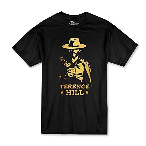 Terence Hill - Gold Cowboy - T-Shirt (schwarz) (XXL)