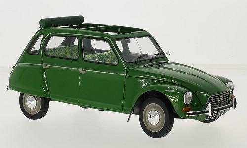 Citroen Dyane 6, verde, 1975, modello di automobile, modello prefabbricato, Norev 1:18 Modello esclusivamente Da Collezione